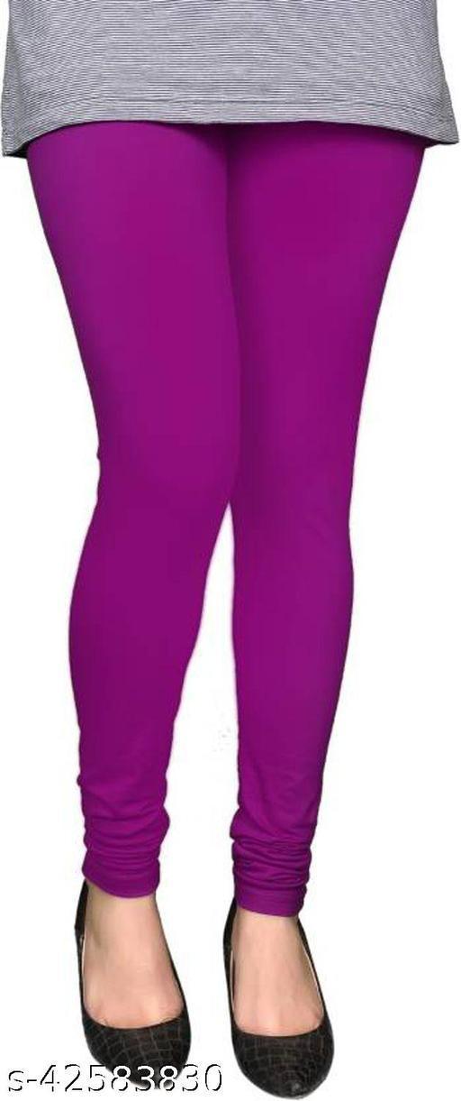 KriSo Cotton Lycra Legging Pruple Colour