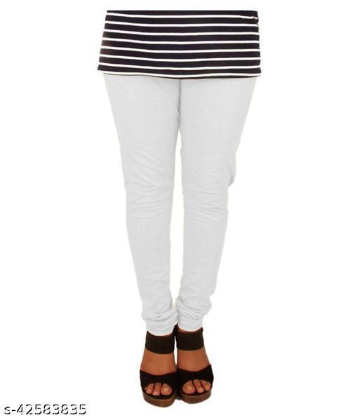 KriSo Cotton Lycra Legging  White Colour