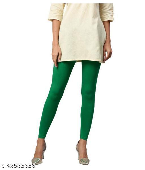 KriSo Cotton Lycra Legging Green Colour