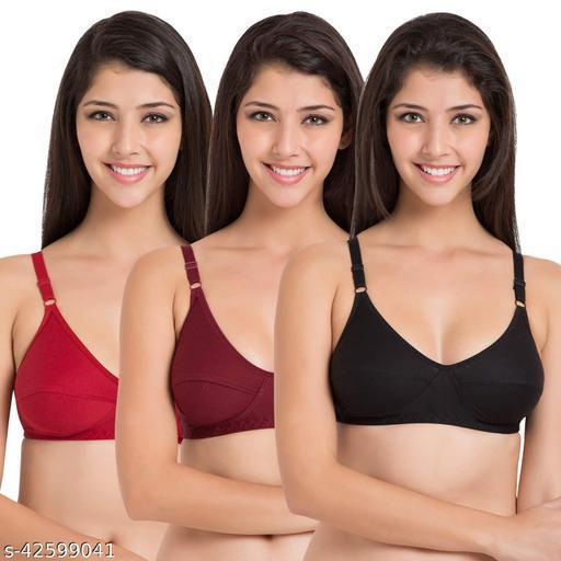 Women Hosiery Magnet Bra Pack of 3 (Random Colour Will Be Send)