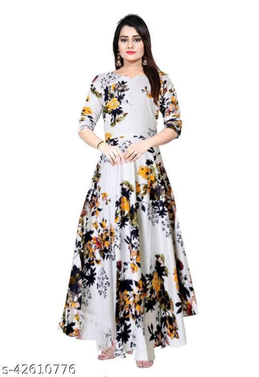 Cotton Craft Trendy Women Stylish Long Gown Kurti Tops
