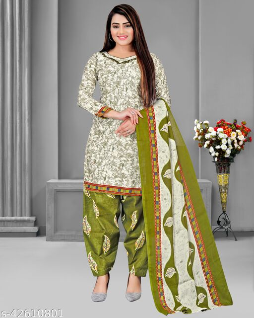 Rajnandini Women's Multicolor Cotton Printed Unstitched Salwar Suit Material