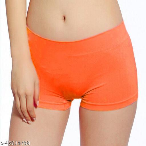 Women Hipster Orange Cotton Panty