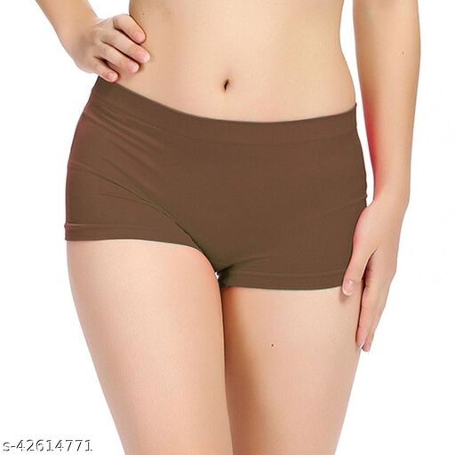Women Hipster Brown Cotton Panty