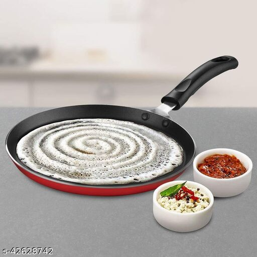 ARNAH TREASURE Special nonstick Cookware Kitchen Accessories Aluminium Flat Base dosa Tawa,  (3 Layered Coated )