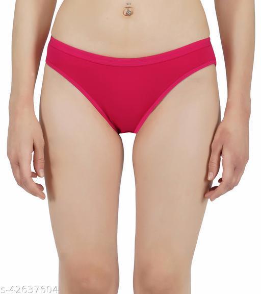 Women Hipster Pink Cotton Panty