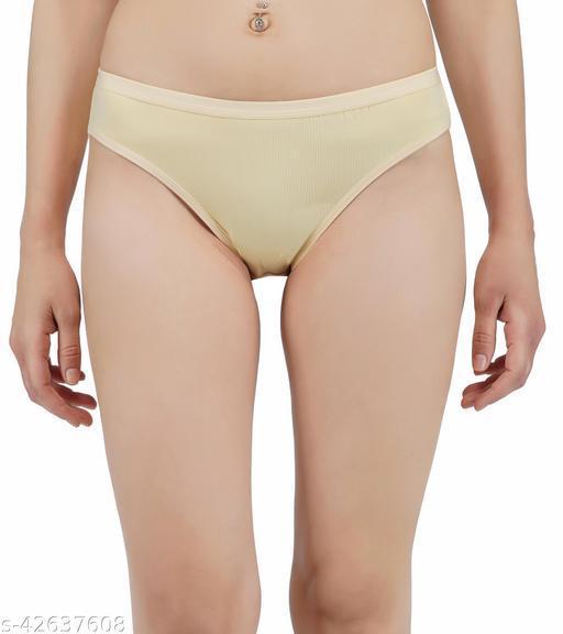Women Hipster Yellow Cotton Panty