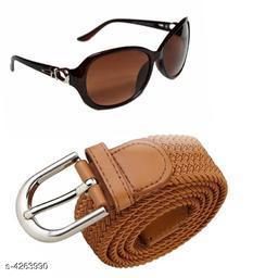Dev Attractive Unisex Sunglasses & Belt Combo
