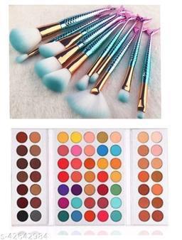 beauty glazed eyeshadow with fish brush set of 10