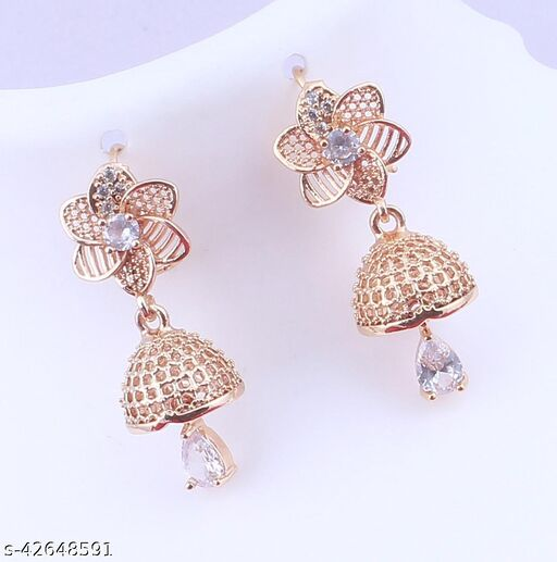 ROSE GOLD PLATED JHUMAR EARING FOR DAILYUSE