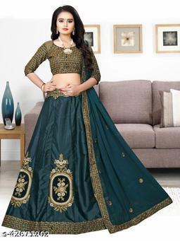 Mahadev  New Stylish Designer Lehenga Choli Green 006