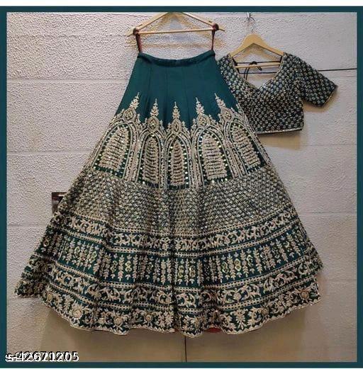 Mahadev  New Designer Lehenga Choli Green  005