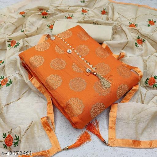 Semi Modal with Jacquard Fancy Butta Dress Material