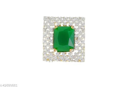 Fancy Design Green American Diamond Wedding Stylish Ring  for women And Girl