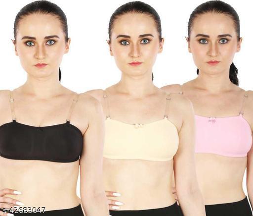 Women Half Coverage Non Padded Bra(Pack of 3)