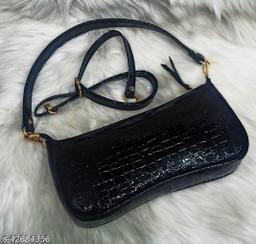 MarcG Faux Leather  Formal  Sling Bag Medium Size
