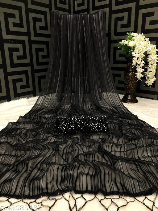 RIM J SAREE  BLACK