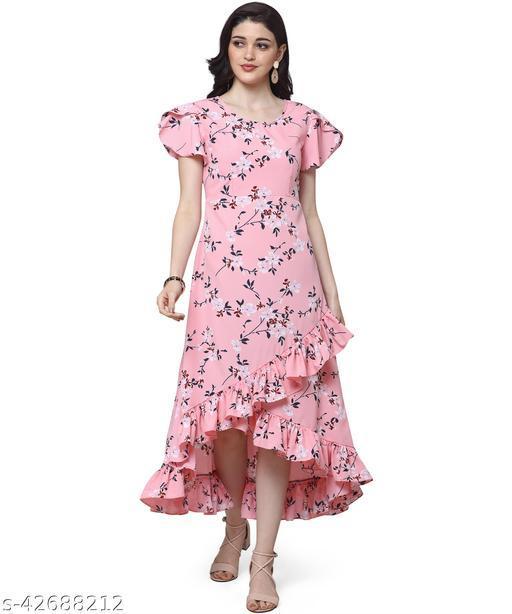 Oomph! Women'S Crepe Wrap Maxi Dress - Blush Pink md146