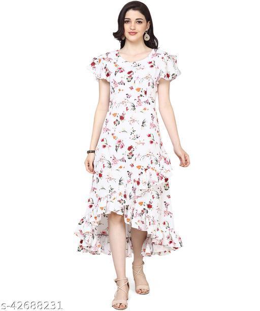 Oomph! Women'S Crepe Wrap Maxi Dress - Daisy White md141