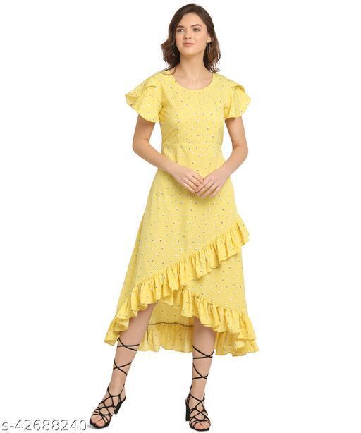 Oomph! Women'S Crepe Wrap Maxi Dress - Dandelion Yellow md169
