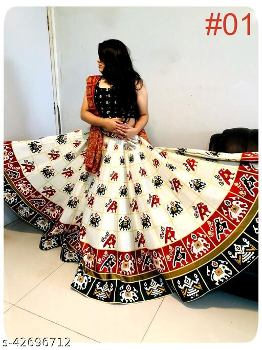 pooja printed patola lehenga for navratri and festivel for women