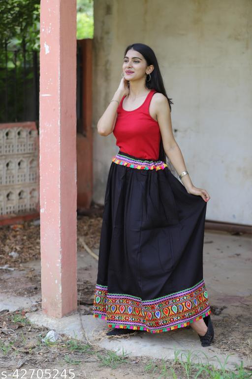 Women's Jaipuri Ethnic Rayon Skirt