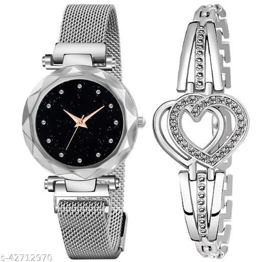 women's watch and bracelet