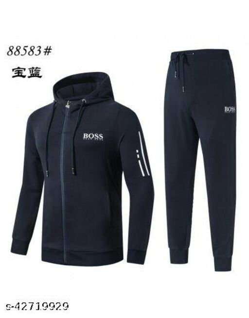 AW Trendy Men's Tracksuit Top & Bottom All Weather Fabric with Silky Touch