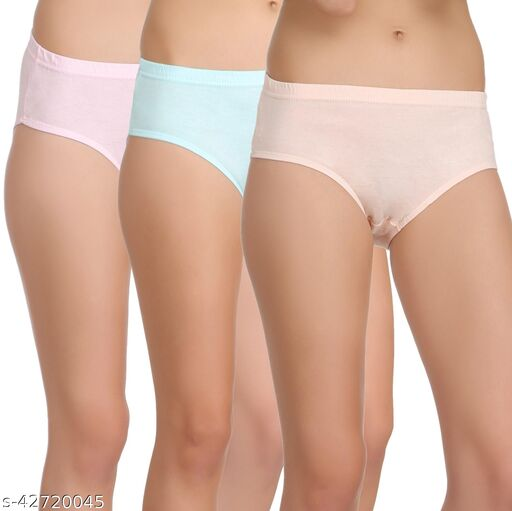Women Hipster Multicolor Cotton Panty (Pack of 3)