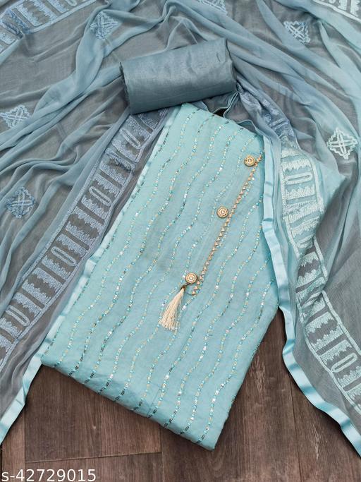 NITYAPAL Women's Cotton Un-Stitched Dress Material