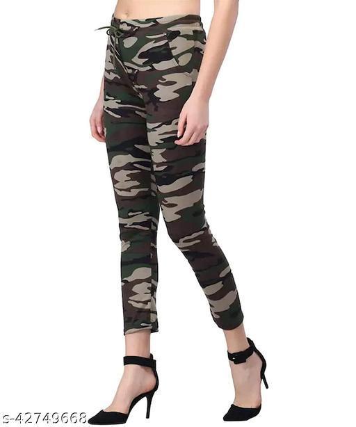 Fashionable Latest Women Military Jeggings