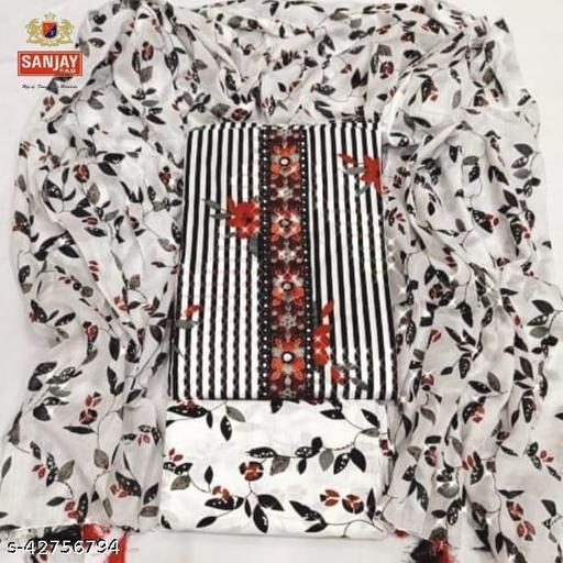 Sanjay Fab, Trendy 100% Pure Cotton Printed, Vintage Fancy Suits