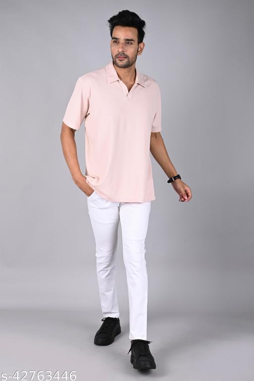 Aristitch SNOWWHITE Cotton Regular Fit Chinos Torusers for Men