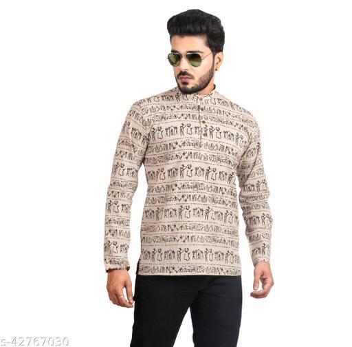 Men Printed Cotton Kurta