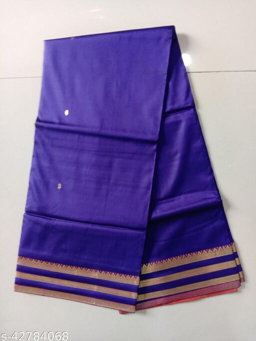 Silk Zari Work Party Wear Saree With Blouse