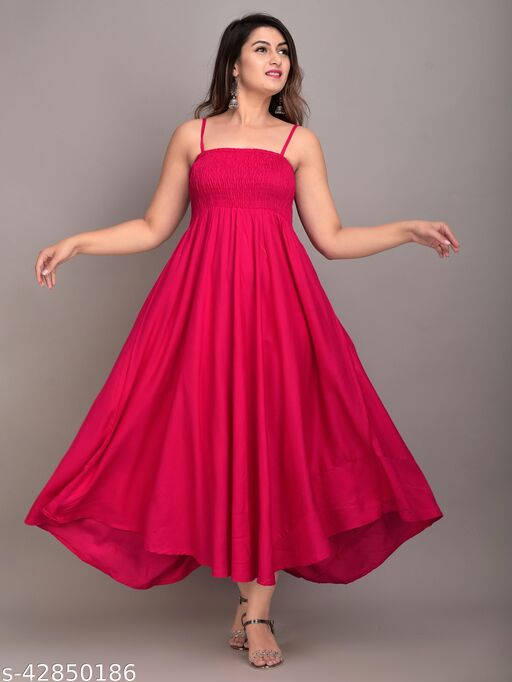 MAYERO Rayon Western Wear dresses