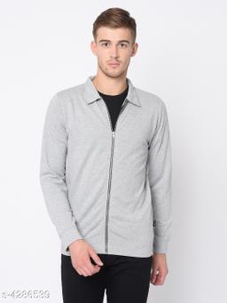 Rigo Grey Terry Harrington Full Sleeve Jacket For Men