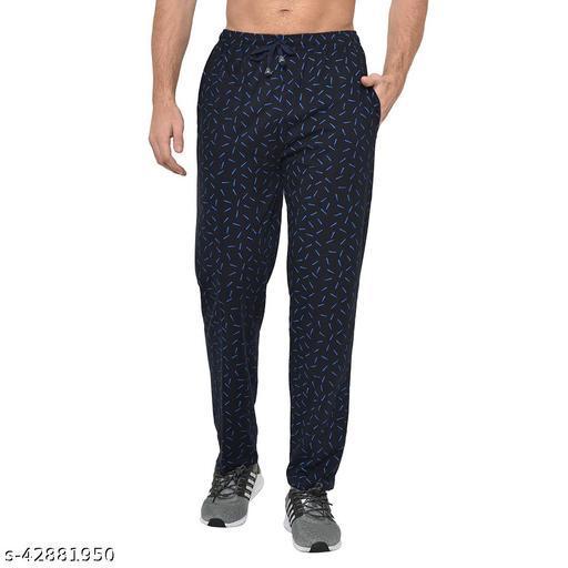 VIMAL JONNEY Cotton Blended Regular Fit Navy Blue Pyjama for Men