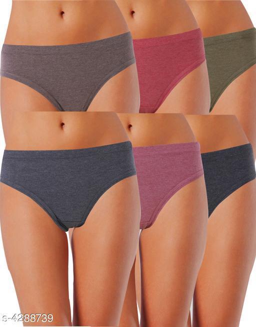 Women Pack of 6 Bikini Panties