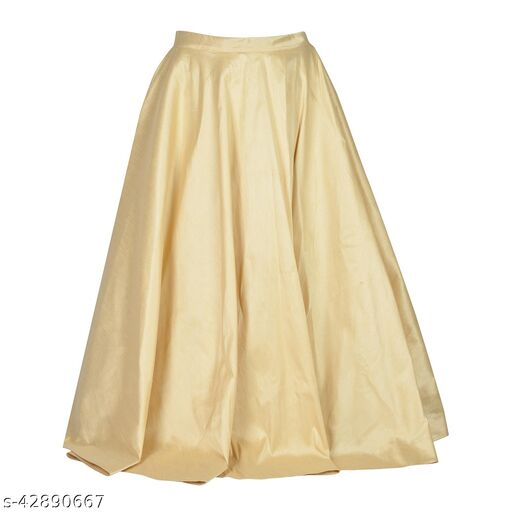 MABA Womens Girls Plain Traditional Indo Western Lehenga Skirt Floor Long And Has A Flair Of 4 .5 Meters with Lining