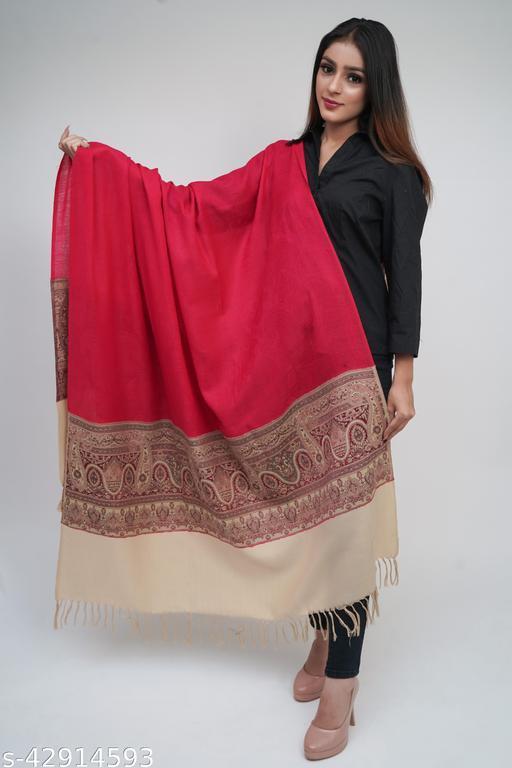 Women Designer Woven Fine Wool Stole