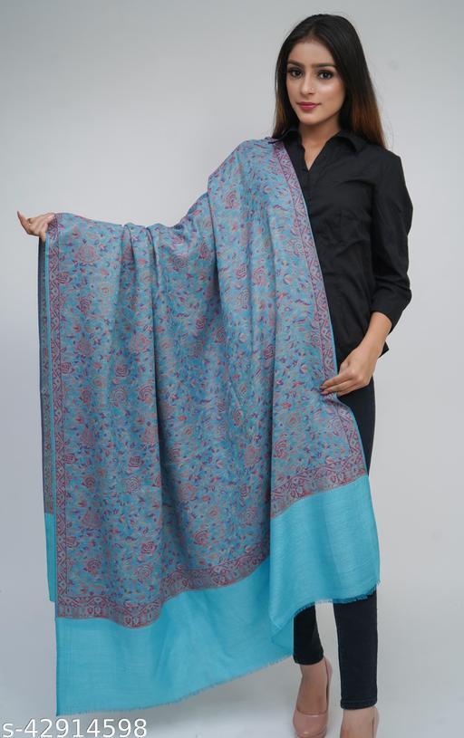 Women Jamdaani Designer, Wool blend Stole