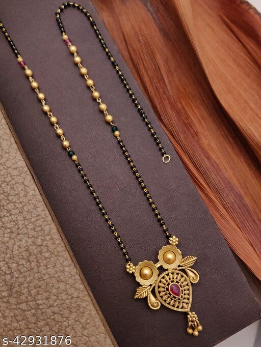 copper gold(1 gram) plated facny mangalsutra for women