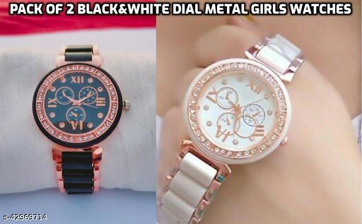 stylish casual watches for girls and womens(pack of 2)