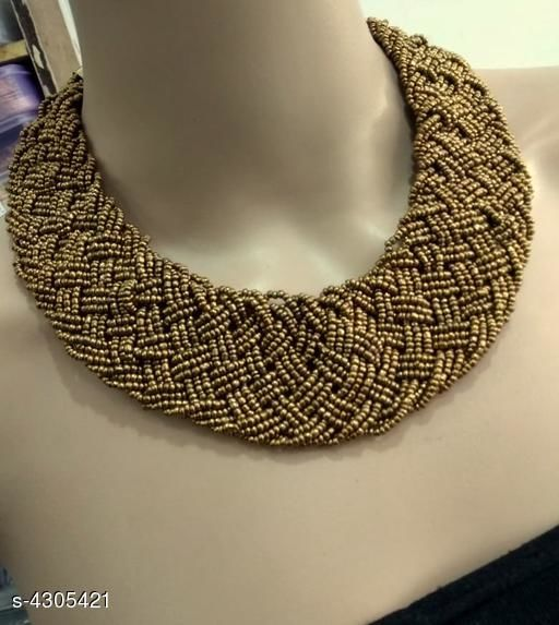 Trendy Stylish Bead Work Women's Necklace