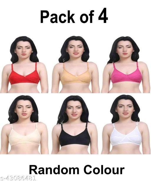 Women Hosiery Magnet bra Pack of 4 (Random Colour Will Be Send)