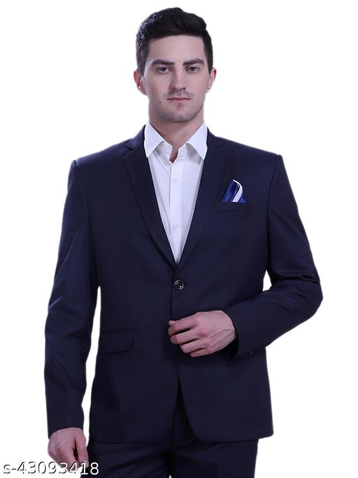 Touch Fitt Double Button Regular Fit Formal Blazer for Men Ink Blue Available in 6 (BLAZER ONLY)