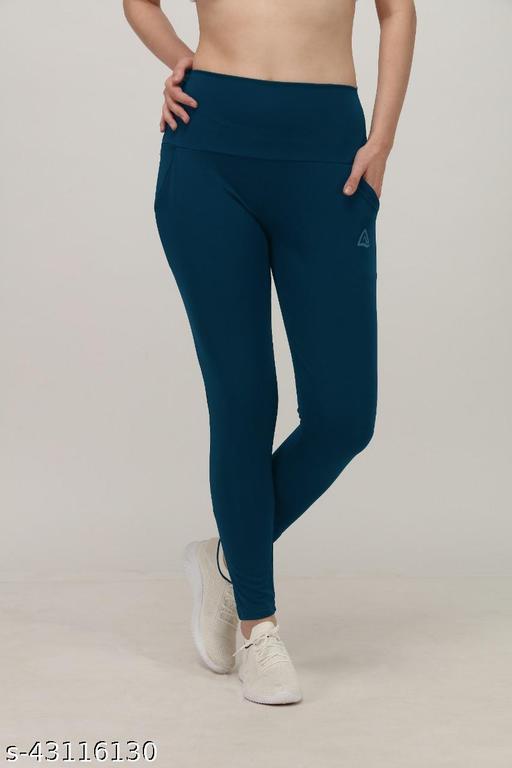 Stylish DRYFIT Ladies Tights ( Plain JaggieS - AQUA BLUE )
