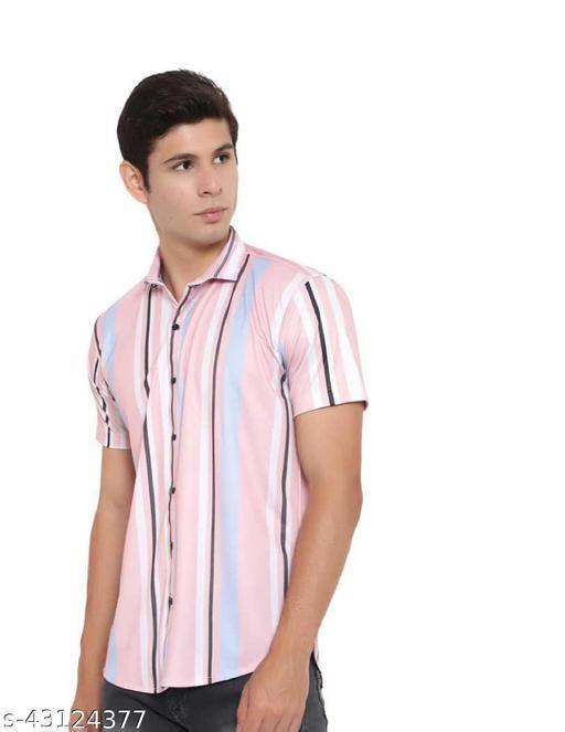 AMAR Men's Premium Lycra Casual Half Sleeve Shirt