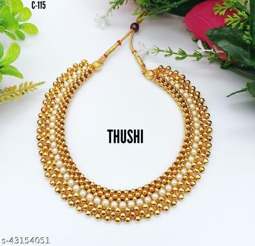 Trending Gold Micro plated Maharashtrian Style Thushi Necklace